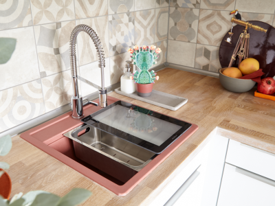 ENTRANCE MATERIALITY CRISTALITE® - THE CLASSIC KITCHEN SINK